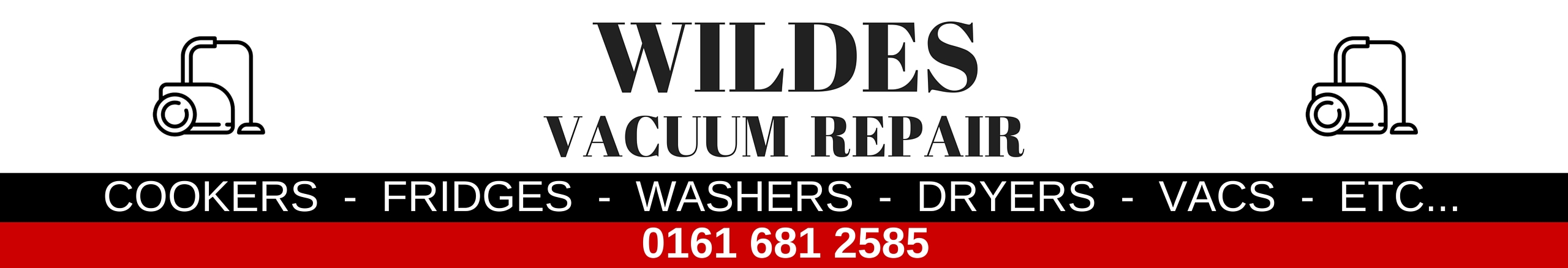 Vacuum cleaner repair in Failsworth, Chadderton, Oldham - Wildes Domestics